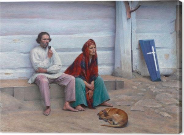 Tableau sur toile Aleksander Gierymski - Cercueil paysan - Reproductions