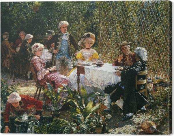 Tableau sur toile Aleksander Gierymski - Dans le belvédère - Reproductions