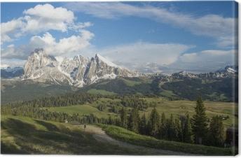 Tableau sur toile Alpe Di Suisi Dolomite italie