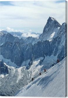 Tableau sur toile Alpinisme Mont-Blanc
