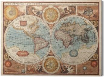 Tableau sur toile Ancienne carte (1626)