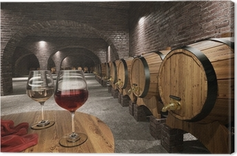 Tableau sur toile Ancienne cave à vin