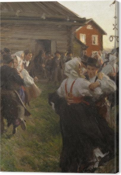 Tableau sur toile Anders Zorn - Danse d'été - Reproductions
