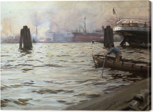 Tableau sur toile Anders Zorn - Hambourg - Reproductions