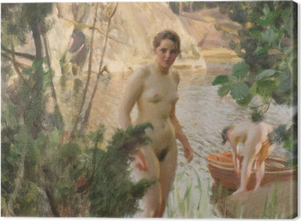 Tableau sur toile Anders Zorn - La Barque - Reproductions