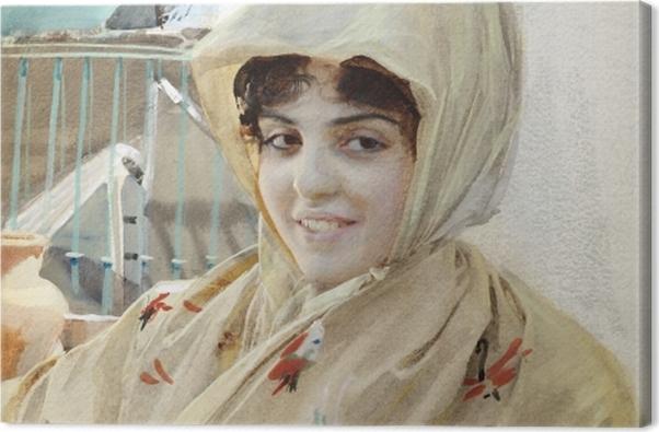 Tableau sur toile Anders Zorn - Mathilde - Reproductions