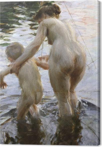 Tableau sur toile Anders Zorn - Première fois - Reproductions