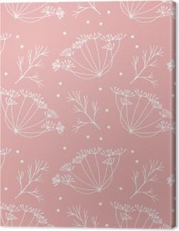 Tableau sur toile Aneth ou fenouil fleurs et feuilles de motif.