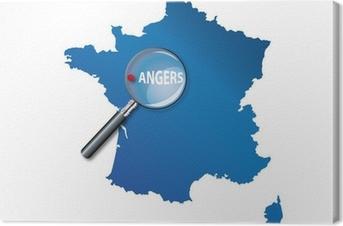 Tableau sur toile Angers : Carte de France - département Maine et Loire