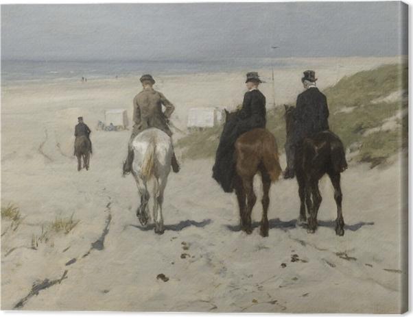 Tableau sur toile Anton Mauve - Balade matinale sur la plage - Reproductions