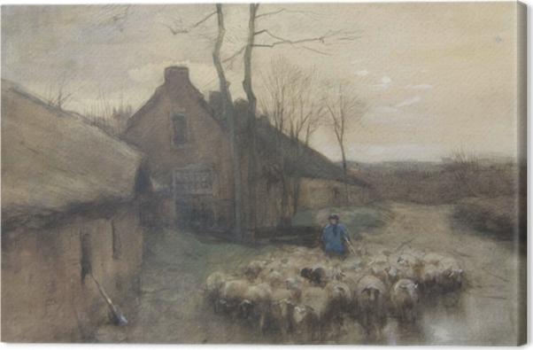 Tableau sur toile Anton Mauve - Berger avec Moutons à 't Gooi - Reproductions