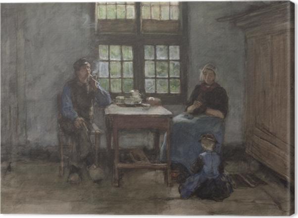 Tableau sur toile Anton Mauve - Intérieur de maison à Laren - Reproductions