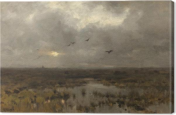 Tableau sur toile Anton Mauve - Le marais - Reproductions