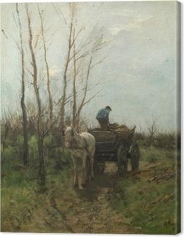 Tableau sur toile Anton Mauve - Ramassage de bois