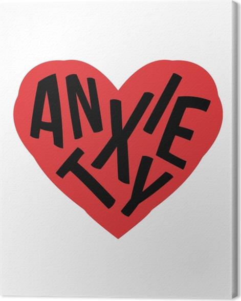 Tableau sur toile Anxiété. -