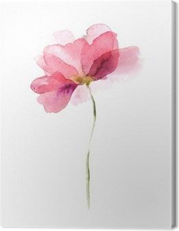 Tableau sur toile Aquarelle fleur