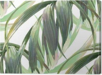 Tableau sur toile Aquarelle illustration de feuille, motif sans couture sur fond blanc