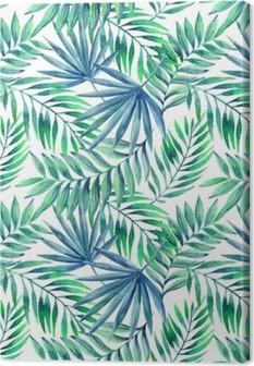 Tableau sur toile Aquarelle tropical laisse seamless