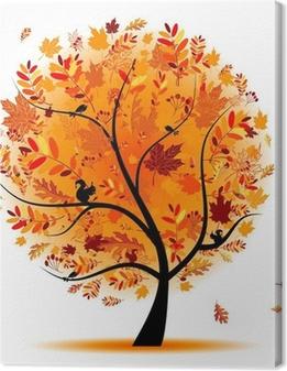 Tableau sur toile Arbre automne beau pour votre conception.