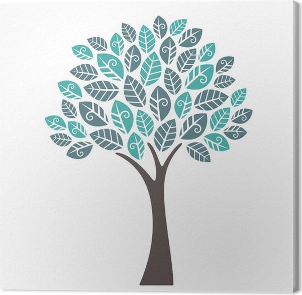 Tableau sur toile Arbre décoratif • Pixers® - Nous vivons pour on