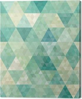 Tableau sur toile Arrière-plan transparent avec ornement géométrique abstrait
