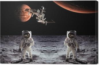 Tableau sur toile Astronautes Spaceman Lune Planètes