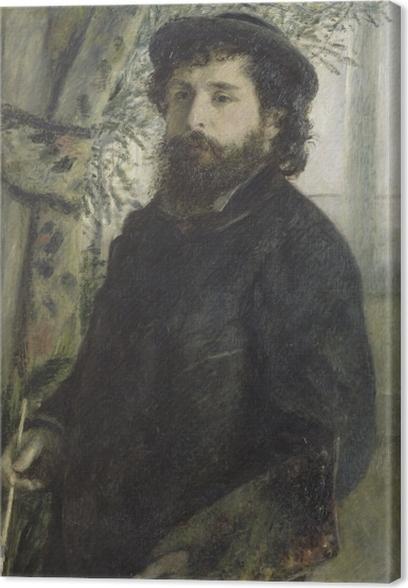 Tableau sur toile Auguste Renoir - Portrait de Claude Monet - Reproductions