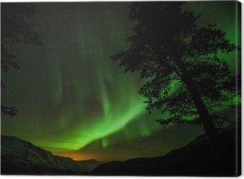 Tableau sur toile Aurora Borealis (aurores boréales) en Suède