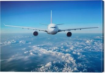 Tableau sur toile Avion de ligne dans le ciel