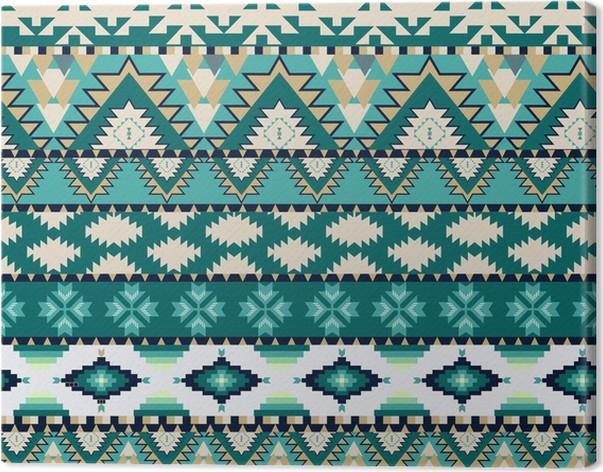 tableau sur toile aztecs seamless sur couleur froide pixers nous vivons pour changer. Black Bedroom Furniture Sets. Home Design Ideas