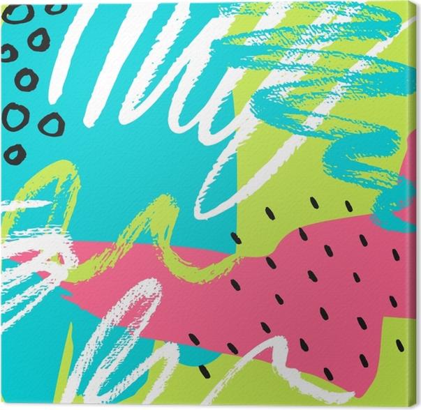 Tableau sur toile badges de patch de bande dessinée avec banan -