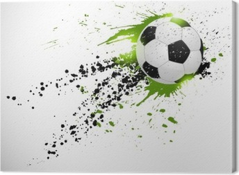 Tableau sur toile Ballon de football en vol