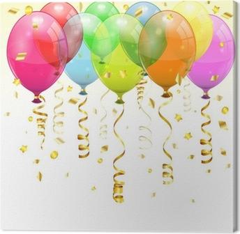 Tableau sur toile Ballons d'anniversaire