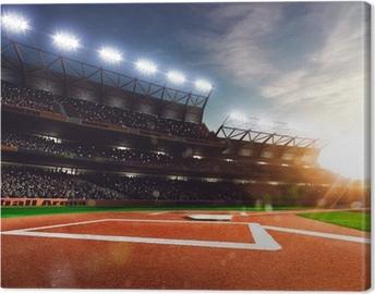 Tableau sur toile Baseball professionnel grande scène en plein soleil