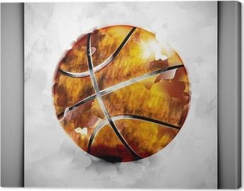 Tableau sur toile Basket-ball aquarelle