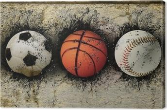 Tableau sur toile Basket-ball, base-ball et le soccer