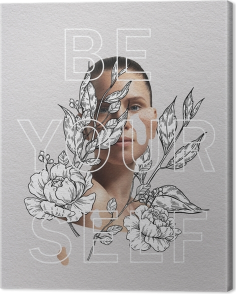 Tableau sur toile Be yourself -