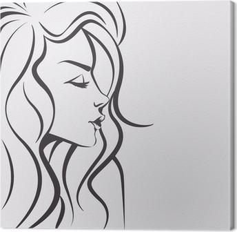 tableaux sur toile dessin visage femme pixers nous vivons pour changer. Black Bedroom Furniture Sets. Home Design Ideas
