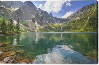 Tableau sur Toile Beau paysage de montagnes Tatra et le lac en Pologne