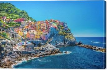 Tableau sur toile Belle paysage urbain coloré