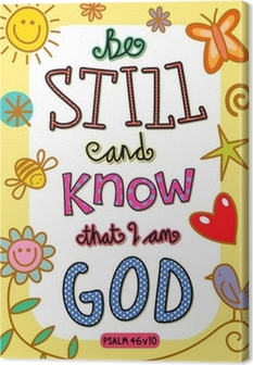 Tableau sur toile Bible Verse Art