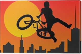 Tableau sur toile Bicyclist