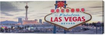Tableau sur toile Bienvenue à Las Vegas signe