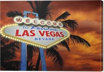 Tableau sur toile Bienvenue à Las Vegas