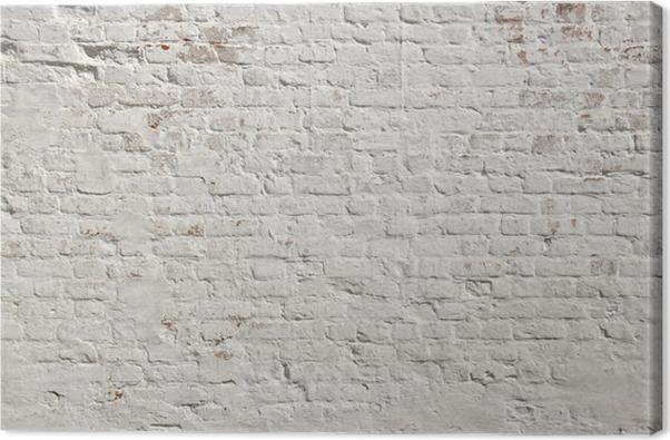 tableau sur toile blanc grunge fond mur de briques pixers nous vivons pour changer. Black Bedroom Furniture Sets. Home Design Ideas