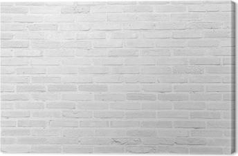 Tableau sur toile Blanc grunge mur de briques texture de fond