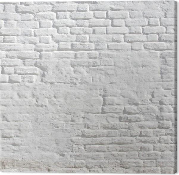 tableau sur toile blanc pl tr mur de briques pixers nous vivons pour changer. Black Bedroom Furniture Sets. Home Design Ideas