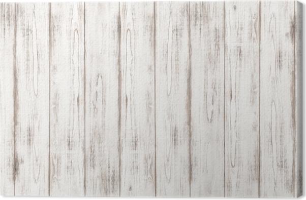 Tableau sur toile Blanc texture de fond en bois motif naturel -
