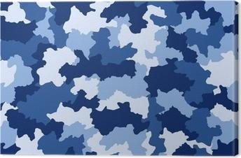 Tableau sur toile Bleu camouflage seamless pattern