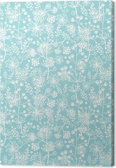 Tableau sur toile Bleu de Vector et de dentelle blanche plantes de jardin, seamless